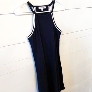 Navy Blue Halter Top Mini Dress